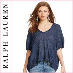 NEW Polo Ralph Lauren Navy 100% Linen Top